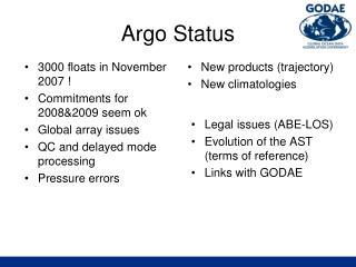 Argo Status