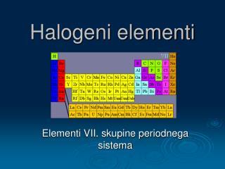 Halogeni elementi