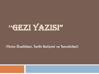 """"""" Gezi  Yazisi """""""