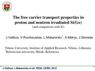 The free carrier transport properties in proton and neutron irradiated Si(Ge)