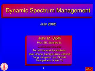 Dynamic Spectrum Management
