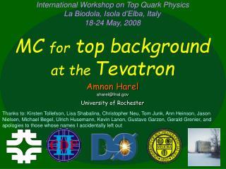 Amnon Harel aharel@fnal University of Rochester
