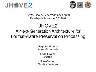 JHOVE2 A Next-Generation Architecture for Format-Aware Preservation Processing