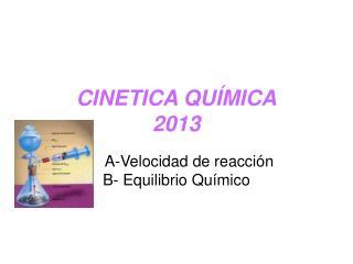 CINETICA QUÍMICA 2013