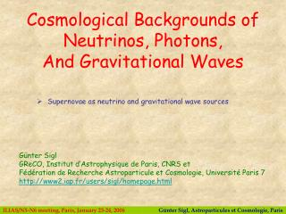 Supernovae as neutrino and gravitational wave sources