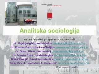Analitska sociologija