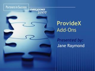 ProvideX Add-Ons
