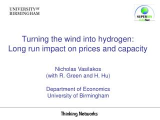 Turning the wind into hydrogen: Long run impact on prices and capacity