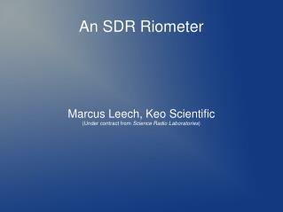 An SDR Riometer