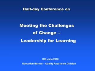 Half-day Conference on