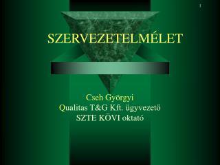 Cseh Györgyi Q ualitas T&G Kft. ügyvezető SZTE KÖVI oktató
