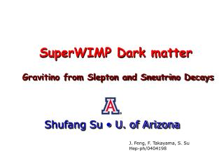 S uper WIMP  Dark matter