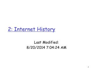 2: Internet History