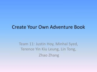 Create Your Own Adventure Book