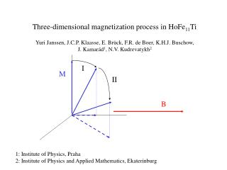 Three-dimensional magnetization process in HoFe 11 Ti