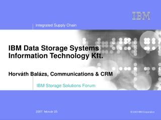 IBM Storage Solutions Forum