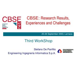 CBSE:  Research Results, Experiences and Challenges