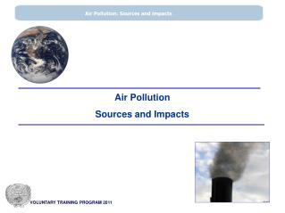 Air Pollution  Sources and Impacts