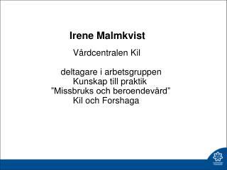 Irene Malmkvist