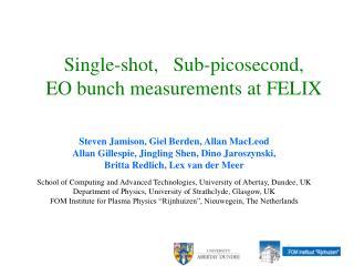 Single-shot,   Sub-picosecond,    EO bunch measurements at FELIX