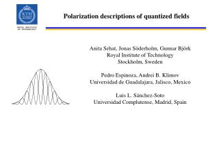 Polarization descriptions of quantized fields