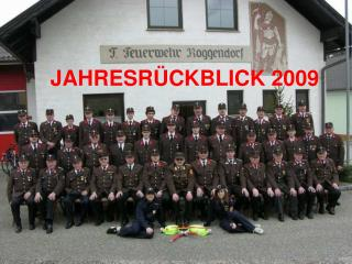 JAHRESR�CKBLICK 2009