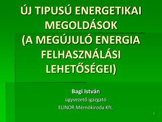 ÚJ TIPUSÚ ENERGETIKAI  MEGOLDÁSOK  (A MEGÚJULÓ ENERGIA FELHASZNÁLÁSI LEHETŐSÉGEI)
