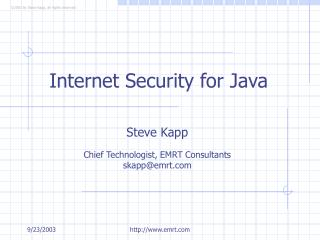 Internet Security for Java