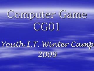 Computer Game CG01