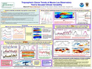 Tropospheric Ozone Trends at Mauna Loa Observatory  Tied to Decadal Climate Variability
