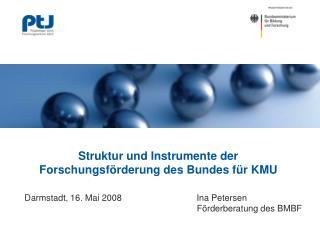 Struktur und Instrumente der Forschungsförderung des Bundes für KMU