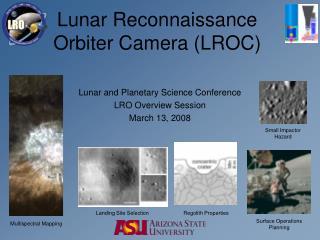 Lunar Reconnaissance Orbiter Camera (LROC)