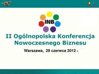 II Ogólnopolska Konferencja Nowoczesnego Biznesu