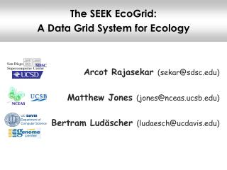The SEEK EcoGrid:  A Data Grid System for Ecology