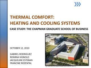 THERMAL COMFORT:  HEATING AND COOLING SYSTEMS