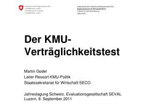 Der KMU-Verträglichkeitstest