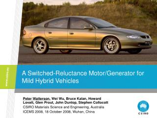 A Switched-Reluctance Motor/Generator for Mild Hybrid Vehicles