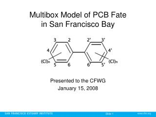 Multibox Model of PCB Fate  in San Francisco Bay
