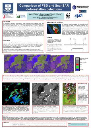 Comparison of FBD and ScanSAR deforestation detections