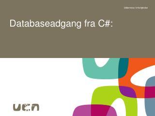 Databaseadgang fra C#:
