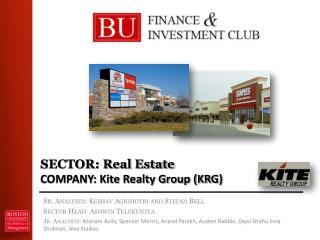SECTOR: Real Estate COMPANY: Kite Realty Group (KRG)