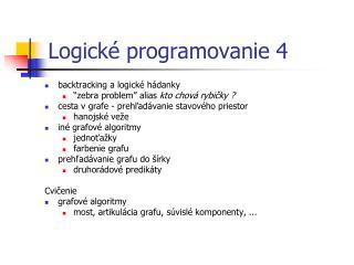 Logick é programovanie  4