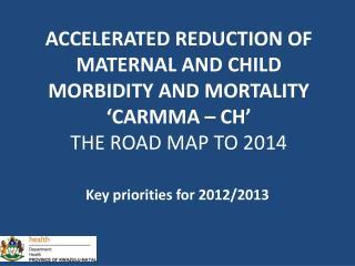 Key priorities for 2012/2013