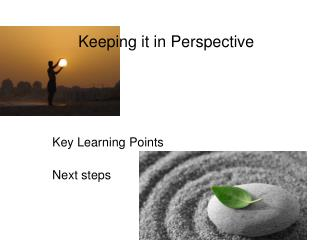 Keeping it in Perspective Key Learning Points Next steps