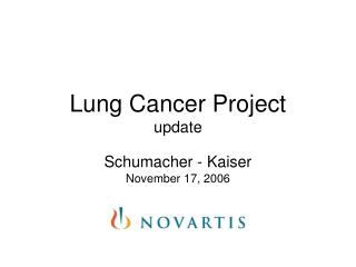 Lung Cancer Project update