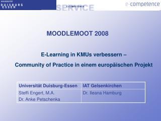 E-Learning in KMUs verbessern –  Community of Practice in einem europäischen Projekt