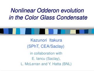 Nonlinear Odderon evolution   in the Color Glass Condensate