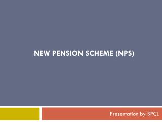 new pension scheme ( nps )