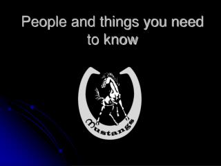 People and things you need to know