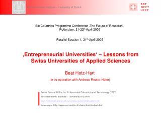Socioeconomic Institute – University of Zurich